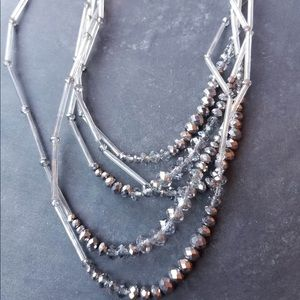 3/$25 Multi Layer Beaded Necklace and Earring Set